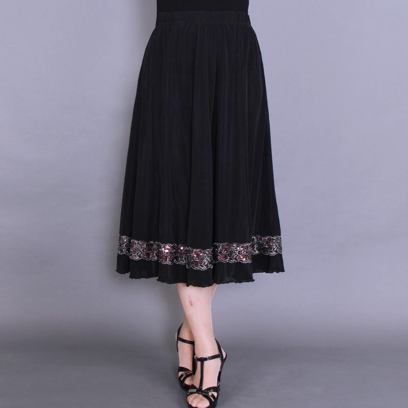 馨暖绒2020夏季新品中老年女装冰丝半身裙中年妈妈装夏装大码裙子