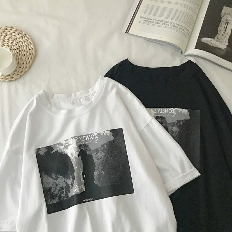 热销0件买三送一2019网红cec简约百搭短袖潮牌t恤