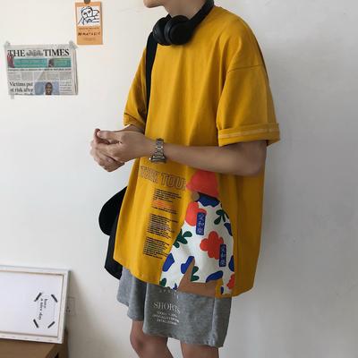X049*19夏季 潮流卡通元素印花宽松版百搭短袖T恤衫P25