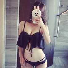 初遇Swim 日韩性感bikini 分体三角泳衣女小胸聚拢比基尼