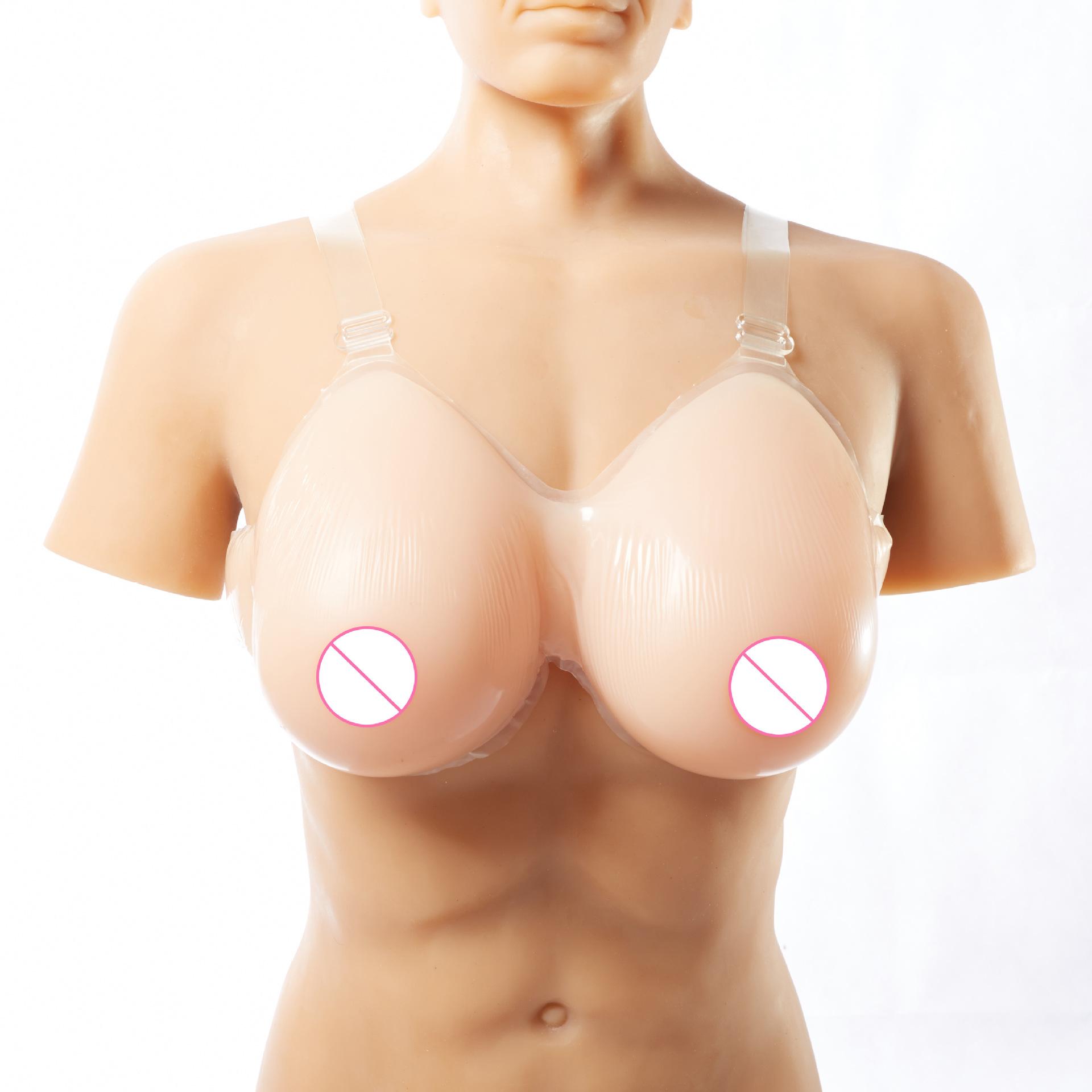 男用cd水滴型假胸直播假胸女主播假乳房超大硅胶义乳男用仿真伪娘