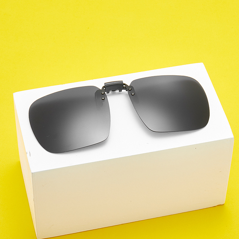 Polarizing sunglasses clip 2020 fashion super large myopia Sunglasses UV protection trend driving glasses for men and women