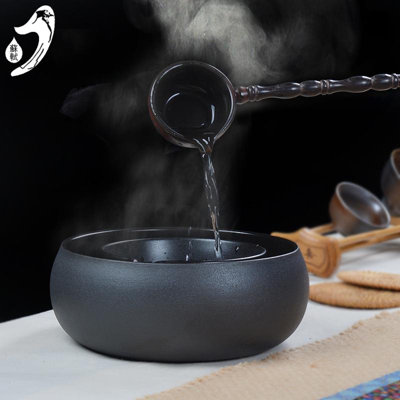 Керамика повар чай устройство здравоохранения температура чай чаша сопротивление горячей керамика порыв чай устройства чай ложка черный чай старый чай генерал Er повар чай 1.5L
