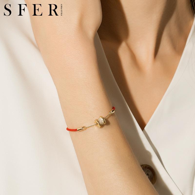转运珠本命年红绳手链女纯银简约新款鼠年礼物手工编织小蛮腰手绳