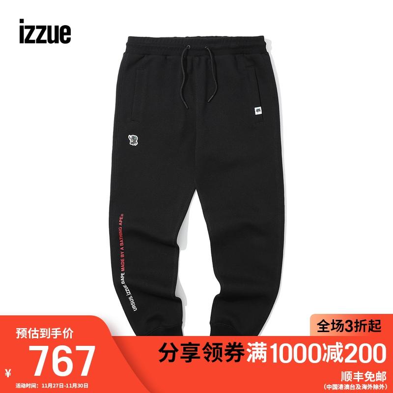 URSUS.izzue.Bape男裝束腳運動褲2019冬季新品印花迷彩6719W9D