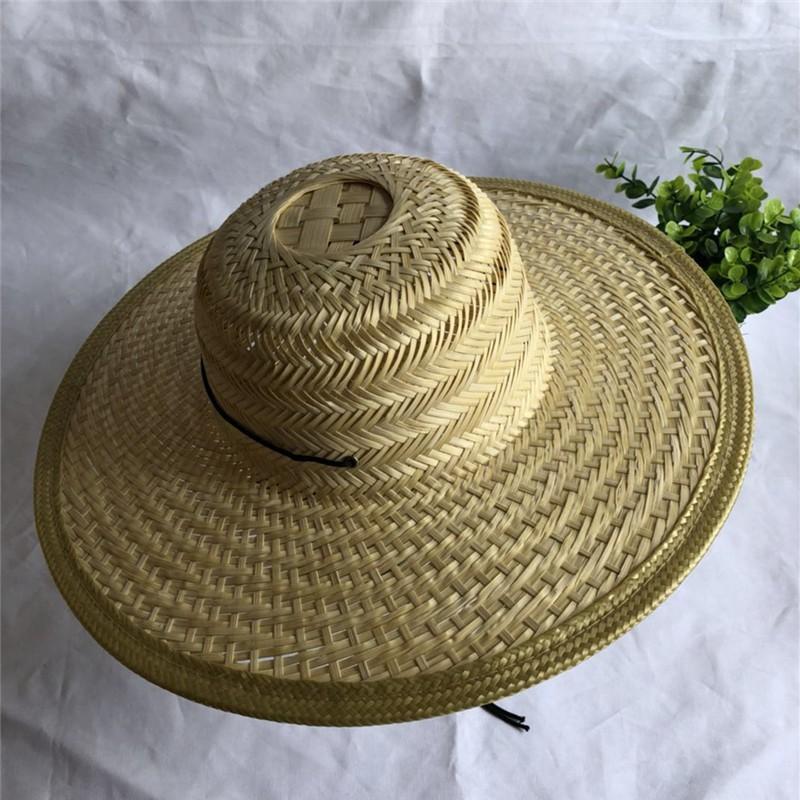 Rain proof bamboo products work straw hat man summer bamboo hat wide brim man beach home pure bamboo sunrise