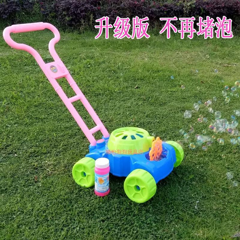 儿童手推泡泡车玩具 宝宝户外电动音乐吹泡泡神器坦克泡泡机玩具热销22件买三送一