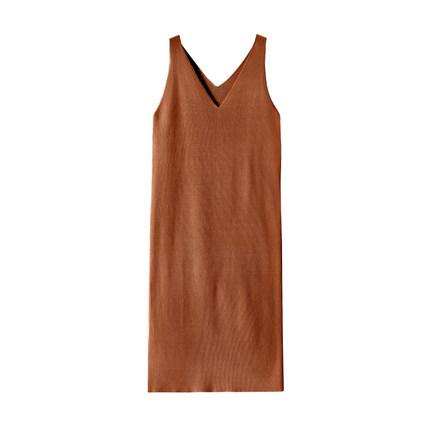 复古开叉法式夏中长款气质连衣裙
