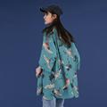 仙鹤雪纺衬衫女宽松短袖休闲百搭仙气上衣气质2020年春夏季潮衬衣