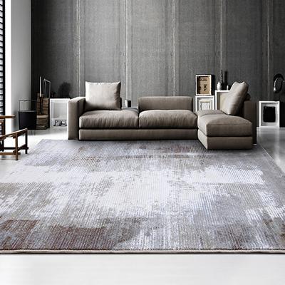 麻莫北欧工业风抽象地毯客厅沙发茶几垫房间卧室床边现代美式轻奢