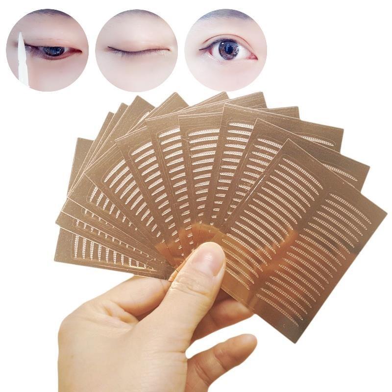 隐形肿泡女孩定型网纱肤色影楼专用双眼皮贴网状超薄持久仙女蕾。有赠品