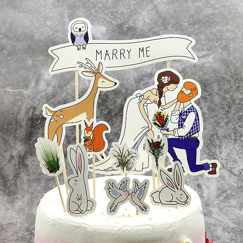 Marry me on Valentines day, cake decoration plug-in and my wedding party wedding cake plug-in