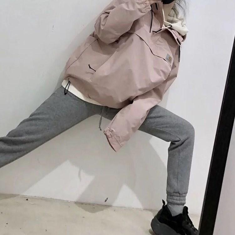 风衣套宽松bf潮风冲锋衣学生套装帅气裤子女装酷嘻哈街头秋
