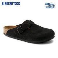 【预售】BIRKENSTOCK包头男女款牛皮绒面革软木拖鞋boston系列