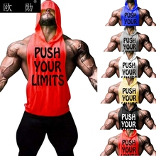 Men Gym vest Shirt Male Bodybuilding Fitness muscle T-shir