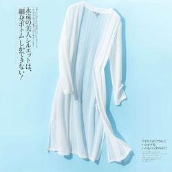 针织开衫女夏薄款镂空防晒衣外套中长款冰丝空调衫配裙子外搭披肩