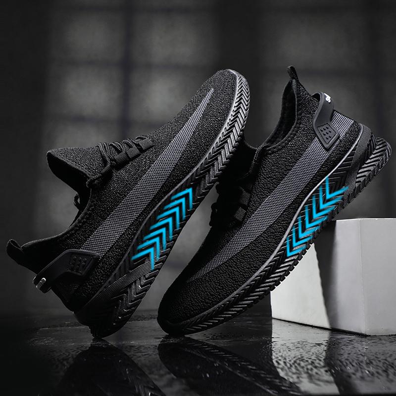颐娉男士运动鞋2020春季新款潮流厚底软底轻便跑步鞋透气休闲男鞋