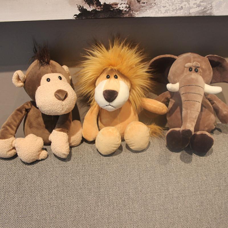 萌萌哒大象毛绒玩具狮子猴子长颈鹿玩偶公仔女生日娃娃可爱萌韩国
