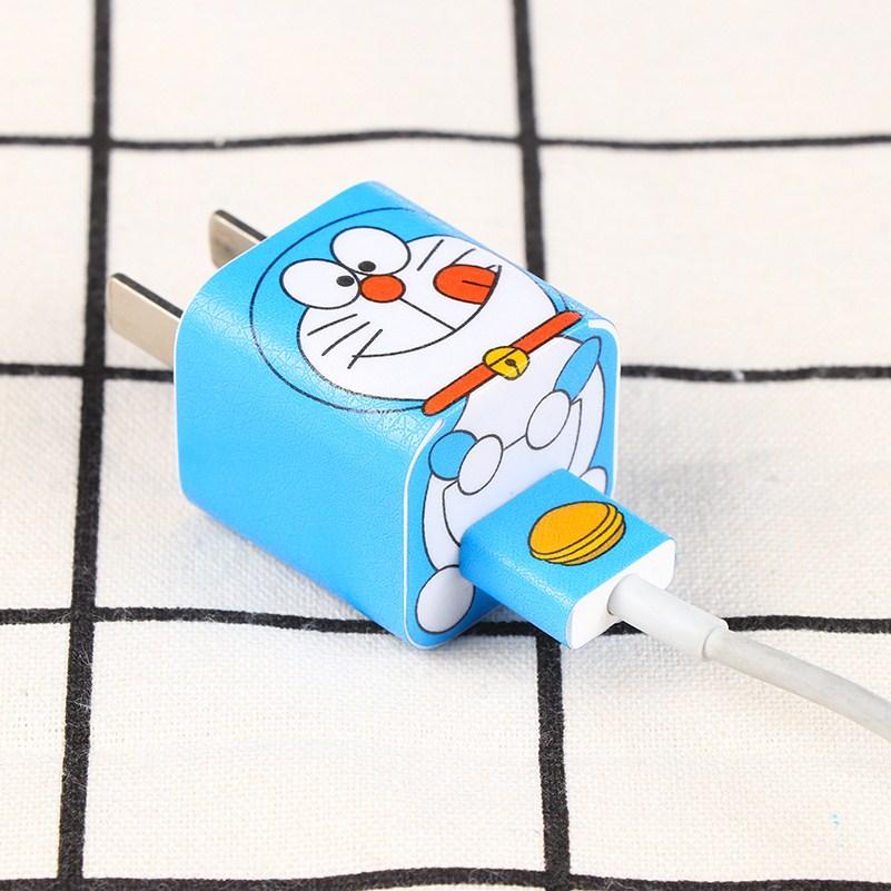 苹果充电器贴纸贴膜 4S 5S 6S iphone6splus 7 7p充电头电源彩膜