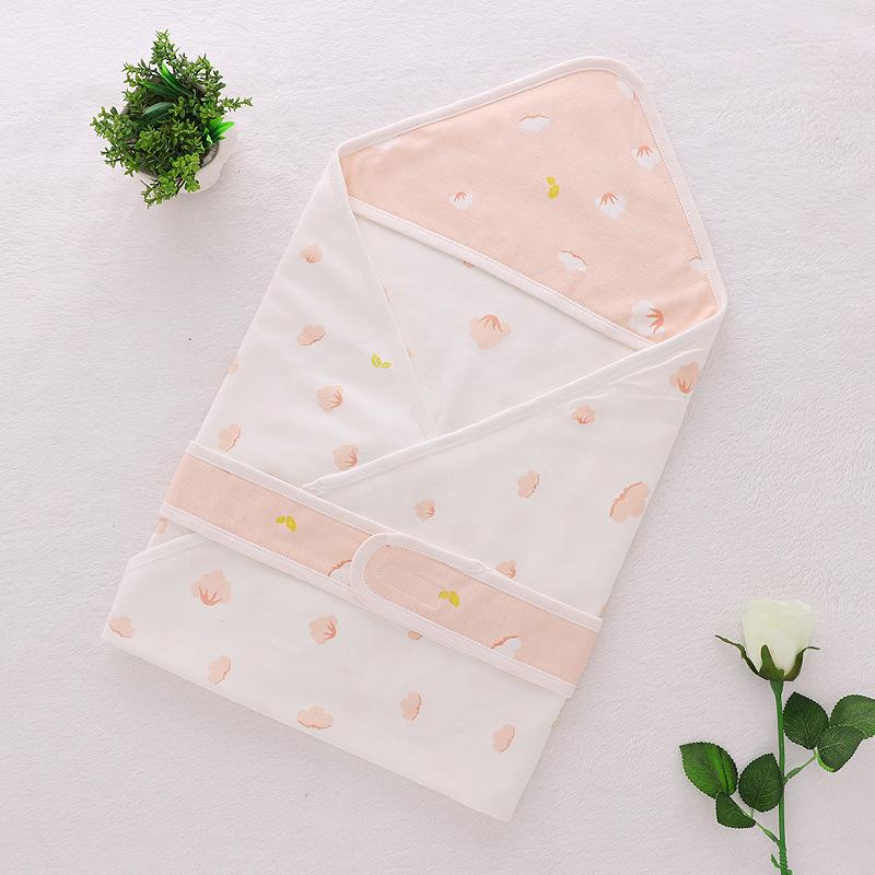 2019春夏款婴儿全棉针织包被柔软亲肤薄款抱被双层面料包邮