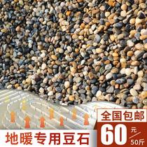 天然鹅卵石小石头豆石家装地暖回填专用沼泽过滤材料8mm50斤包邮