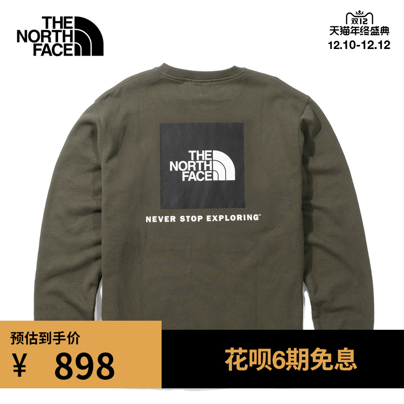 TheNorthFaceUE北面CITY LOGO CREW男LOGO绣标长袖T恤上衣|4UAE