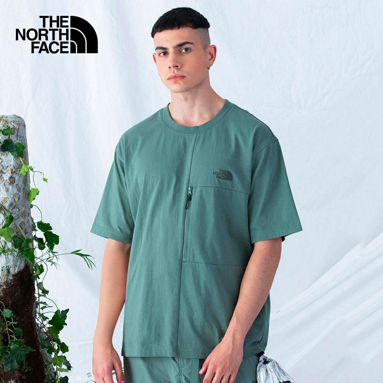 TheNorthFaceUE北面先锋设计男口袋短袖T恤可打包|5JVZ