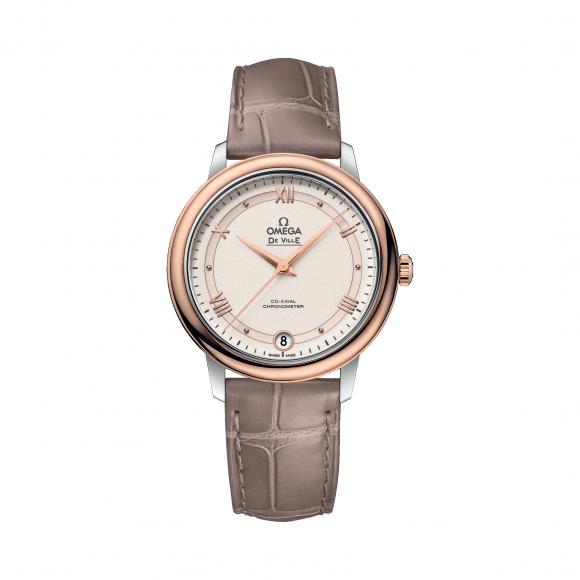 Omega欧米茄女表碟飞系列简约手表皮带机械表424.23.33.20.09.001