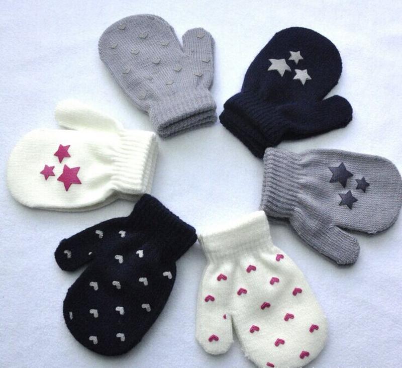 Childrens kindergarten students wool finger wrap gloves childrens winter gloves candy color childrens finger wrap gloves