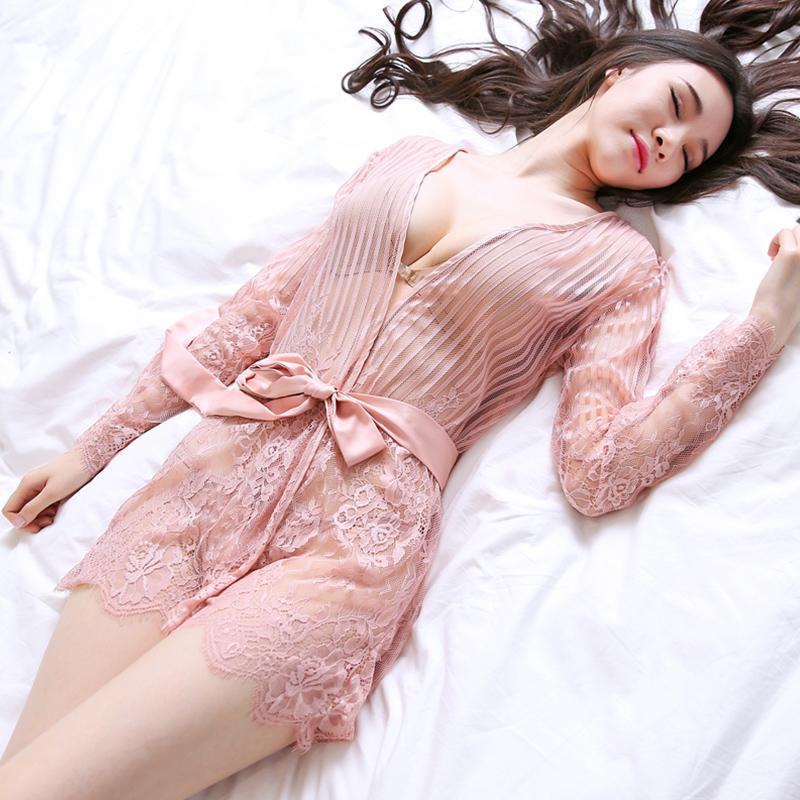 性感睡衣女夏蕾丝透明情趣内衣火辣成人激情套装情调衣人老公睡裙