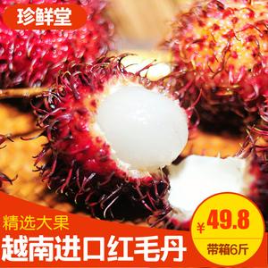 越南红毛丹毛荔枝5斤带箱包邮热带水果应季水果新鲜广西水果净重4