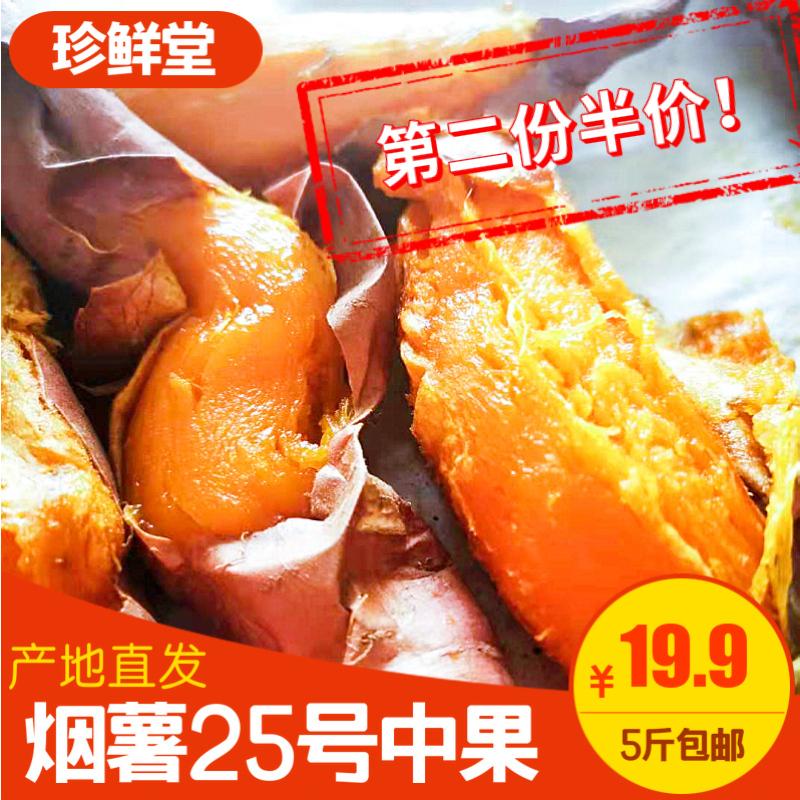 山东蜜薯烟薯25号小中果5斤新鲜小地瓜红薯番薯迷你烤薯甜山芋