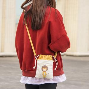 可爱放手机包女斜挎小包包竖款夏天迷你便携2020新款零钱包手机袋