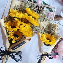 仿真向日葵拍照背景道具裝飾擺件生日禮物小花束ins