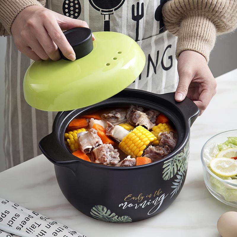 砂锅煲汤明火耐高温炖锅陶瓷沙锅家用炖汤煲汤燃气大小锅具煲仔饭