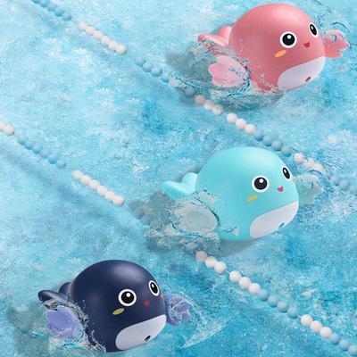 游泳小海豚儿童戏水乌龟宝宝浴室洗澡沐浴鸭子小孩子男女孩玩具