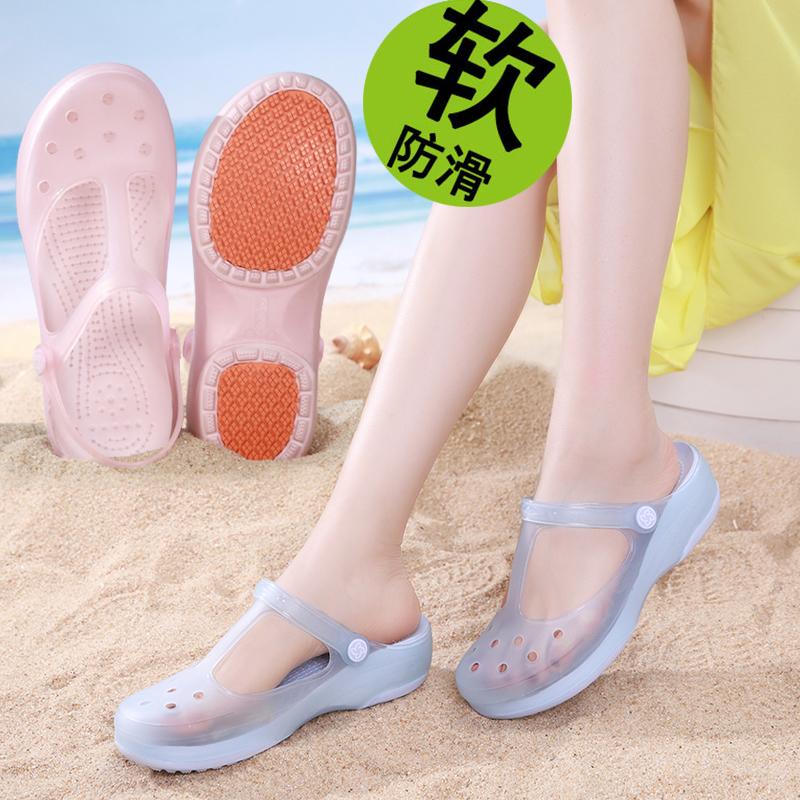 护士洞洞鞋女防滑软底夏季新款厚底包...