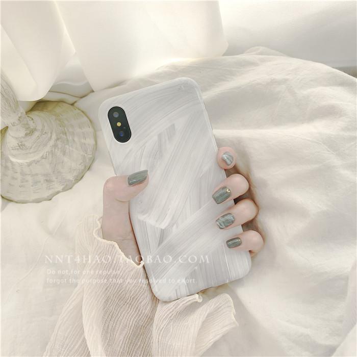 iPhonex手机壳苹果6splus软壳全包7plus白色简约个性8p创意女款潮
