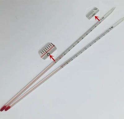 红水水银酒精玻璃棒温度计0-50/100/200/300摄氏度,规格齐全30cm
