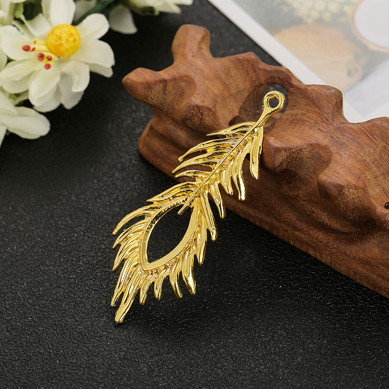 Alloy peacock feather accessories handmade antique hair accessories Brooch material hairpin accessories YG