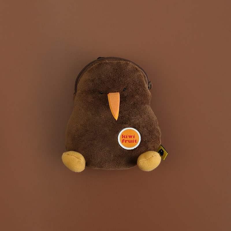 日式袋熊家族卡通毛绒迷你零钱包少女心ins可爱书包挂件钥匙扣