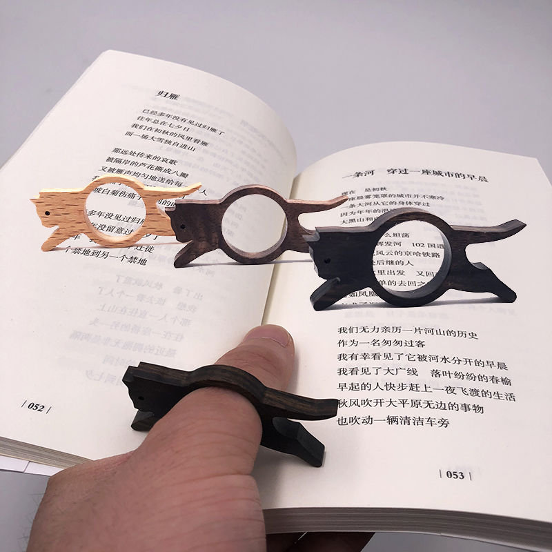 One hand reading assistant ring artifact creative EDC hand designed gift for Book Loving party cat