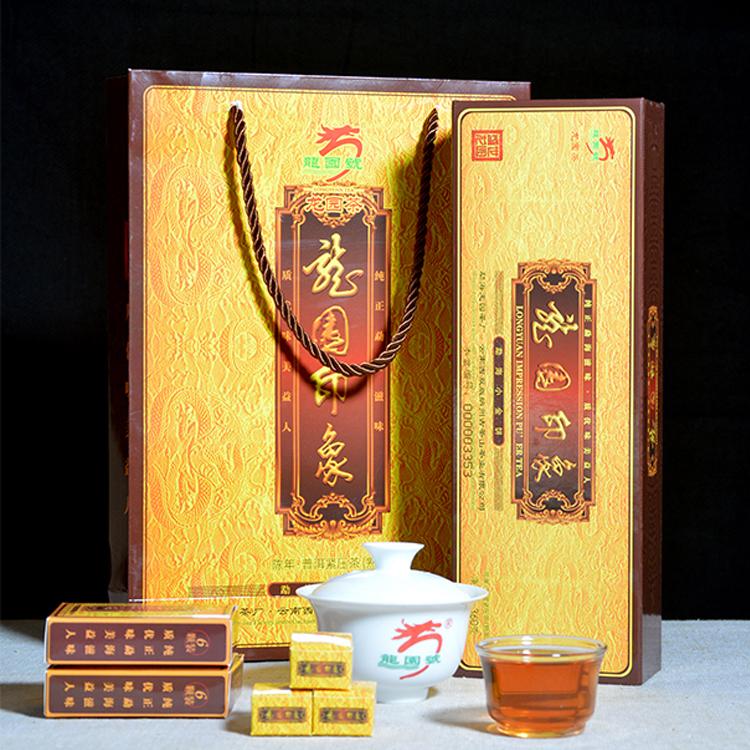 正品专卖龙园号普洱茶 熟茶 龙园印象勐海小金饼 360g 古树茶包邮