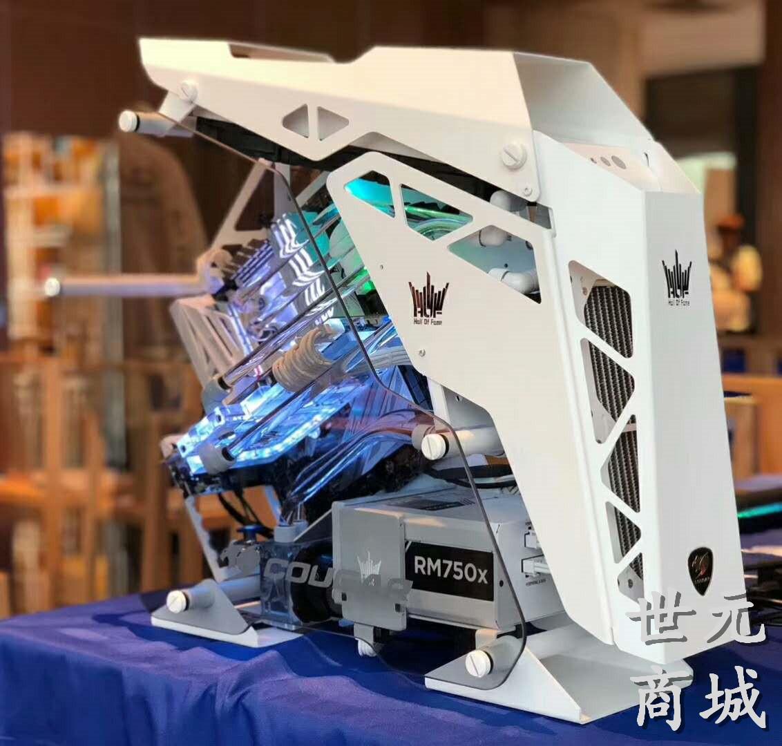 骨伽征服者 白i7八核9700K设计做图游戏电脑台式组装主机Z390独显