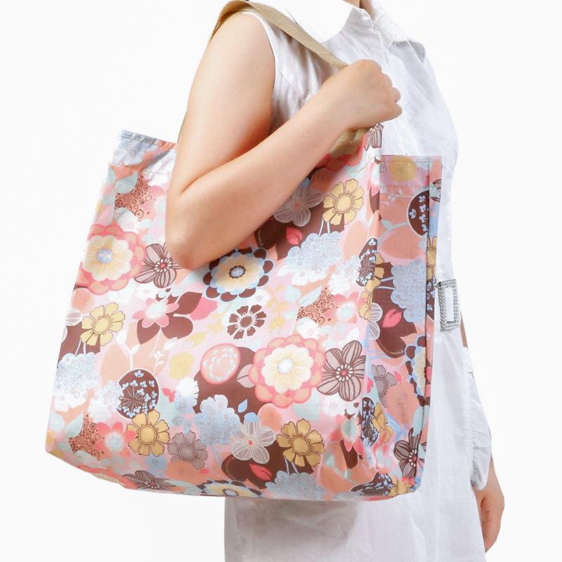 购物袋折叠防水牛津布 韩版便携超市环保袋买菜包 大容量手提袋子