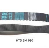 橡胶同步带HTD 5M980/196齿形同步皮带«双面齿传动工业皮带DADB