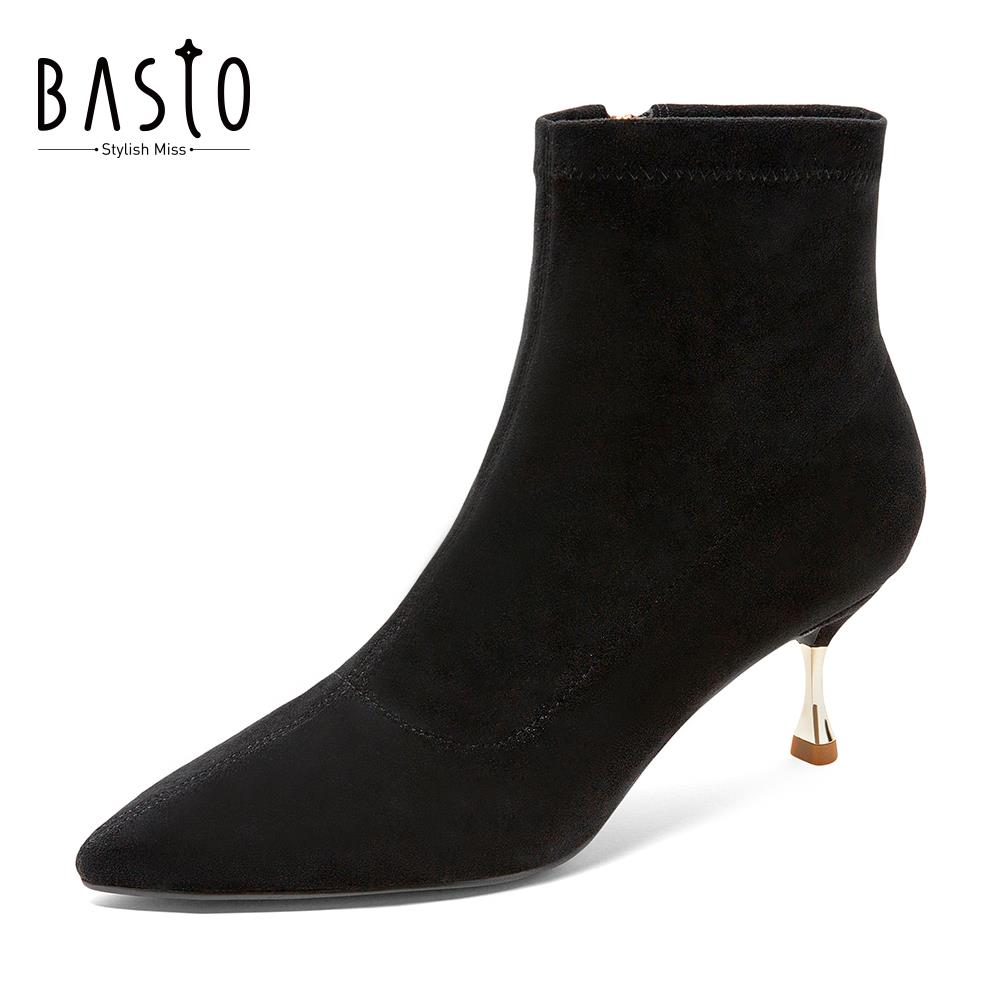 Clearance sale Bestu winter counter with the same British style high-heeled short boots women's boots BDB58DD9