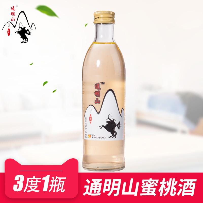 通明山网红蜜桃迷你果酒女士女生低度酸甜鸡尾酒300ml3度1瓶