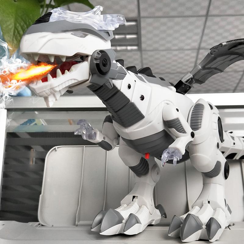 (用57.5元券)机械喷火恐龙电动超大号喷雾玩具