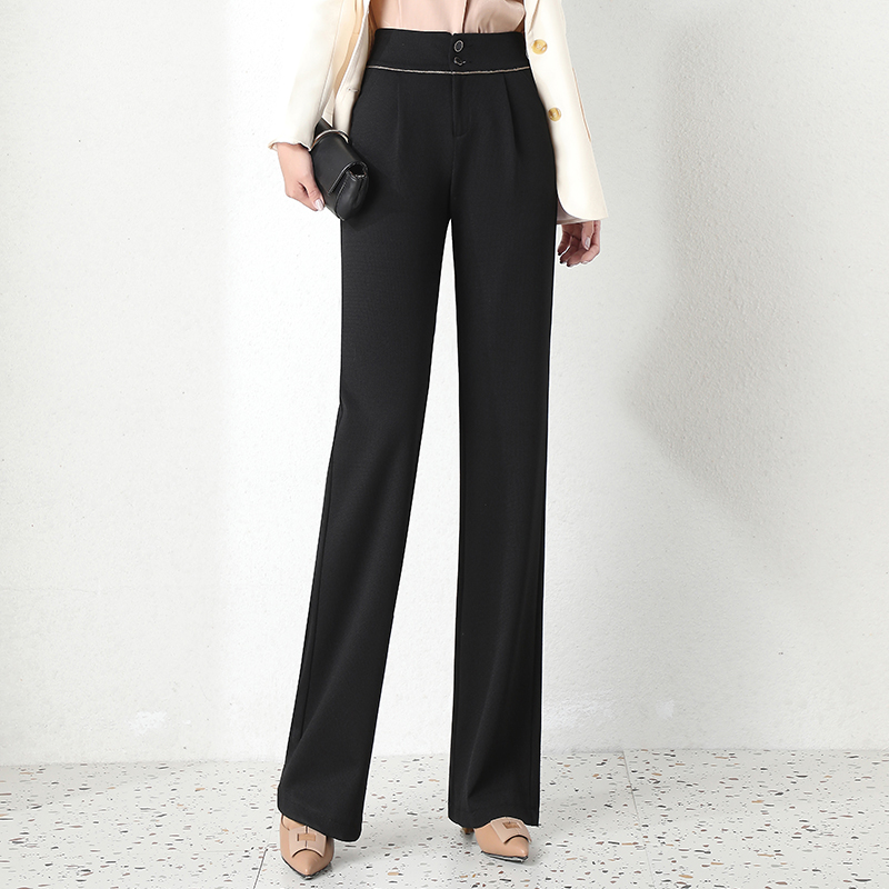 Wide leg pants womens high waist 2020 spring new Korean loose and thin drape casual suit pants straight pants